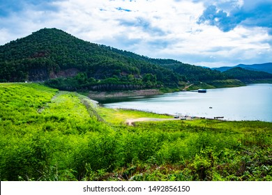 Natural view at Mae Kuang Udom Thara dam, Thailand.