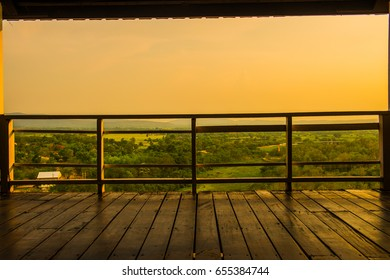 Natural view with rest house at Mae Ngat Somboon Chon dam, Thailand.