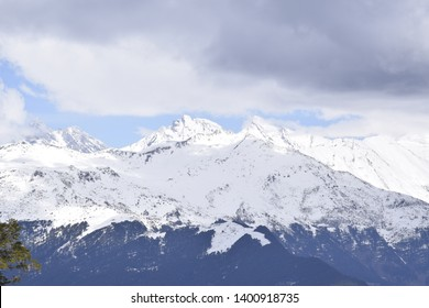 natural view of snow covered mountains