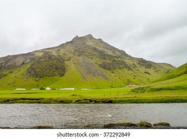 natural waterside scenery seen in Iceland