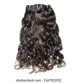 Natural wavy black human hair weaves extensions bundles