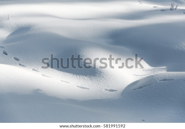 Natural winter background with snow drifts in christmas