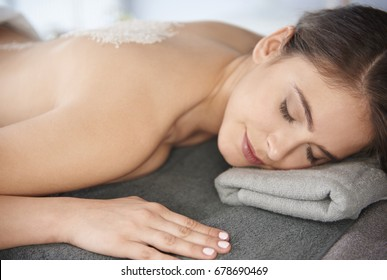 Natural woman at the luxurious spa