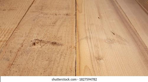 Natürlicher Holzhintergrund auf prospektivem Hintergrund - Bodendesign