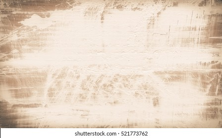 Natural wood background painted white with scuffs. Wooden texture