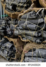 Natural wood charcoal in bag for sell