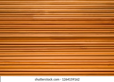 natural wooden background with thin slats, horizontal striped wooden background
