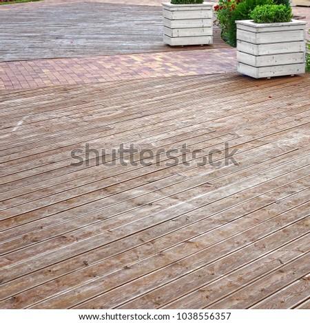 Natural Wooden Outdoor Decking Summer Hardwood Stock Photo Edit Now