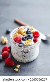 Natural Yogurt with berries and cruch