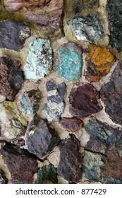 naturally colorful rock wall