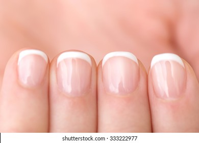Naturally French Manicured Fingernails healthy hand