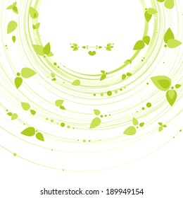 Nature abstract background, eco. Illustration