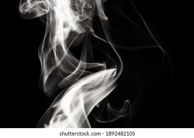 Nature Abstract: The Delicate Beauty and Elegance of a Wisp of White Smoke
