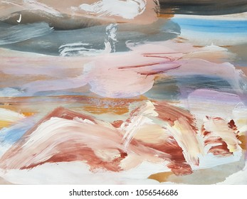Nature abstract landscape. Painting background. Modern art. Contemporary art