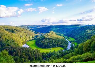 Nature around Bouillon: Le tombeau du géant. Region of the Ardennes in Belgium