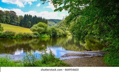 Nature around Bouillon, region of the Ardennes in Belgium