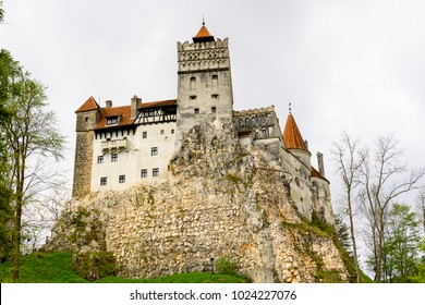 Nature around the Bran (Drakula's) Castle, a national monument and landmark in Romania