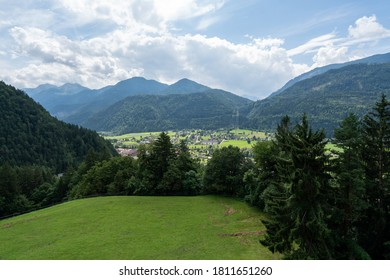 Nature of Austrian alps in summer