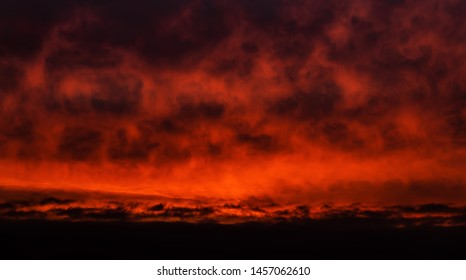 Nature background. Morning sky. Dramatic sunrise sky.