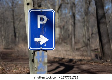 Nature Backgrounds Parking Lot This Way That Way Right Pointing Arrow Copyspace