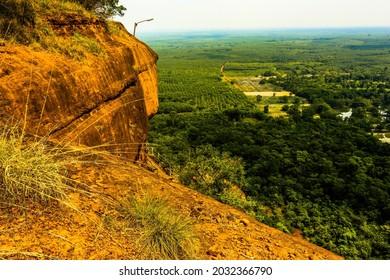 Nature backgroundsDramatic mountain and forest: View from Wat Phu Thok (Wat Chetiya Khiri Wihan), Si Wilai District, Bueng Kan Province Northeast Thailand