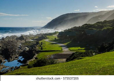 Nature and beach in The Tsitsikamma Section of the Garden Route National Park, South Africa.
