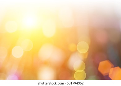 Nature blurred bokeh color glow colorful light sparkling.