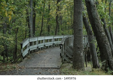 nature bridge wood nature quebec canada laval