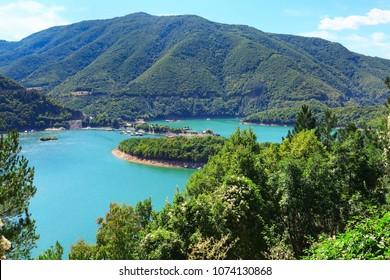 Nature gem Vacha dam in Rhodopes mountains, Bulgaria