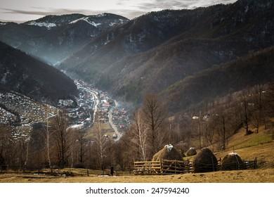Nature landscape after winter time