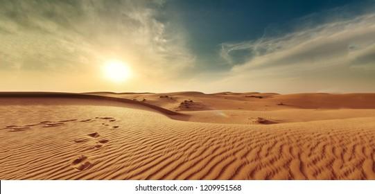 nature landscape desert sand sky