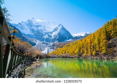 Nature landscape image,Snow Mountain in daocheng yading,Sichuan,China.