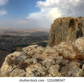 Nature Landscape - Mount Arbel  in the lower part of Galilee in Israel.