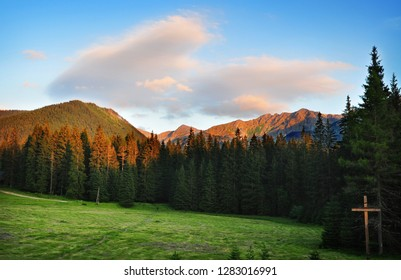 Nature landscape scenery of West Tatras mountains in summer, Slovakia