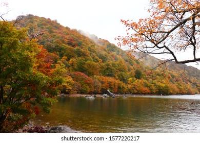 Nature landscape at Towada Lake, Japan.