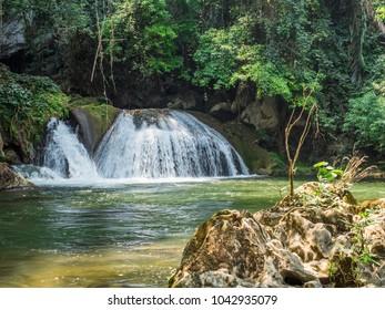 Nature landscape of waterfall
