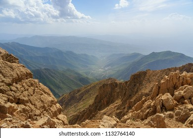 Nature landscape in Zagros Mountain near border of Iran and Iraq. Kermanshah Province, Iran.
