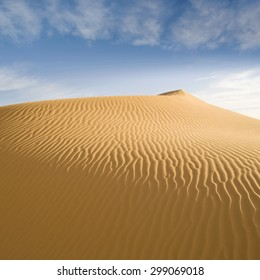 Nature and landscapes of the desert. Annual growth of the area of sand. Global warming on the planet. Climatic changes on Earth.