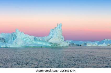 Nature and landscapes of Polar regions of the Earth. Travel on the scientific vessel among ices. Studying of a phenomenon of global warming. Ices and icebergs of unusual forms and colors.