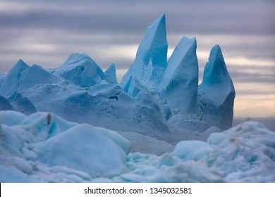 Nature and landscapes of polar zones of our planet.Travel on the scientific vessel among ices. Studying of a phenomenon of global warming. Ices and icebergs of unusual forms and colors.