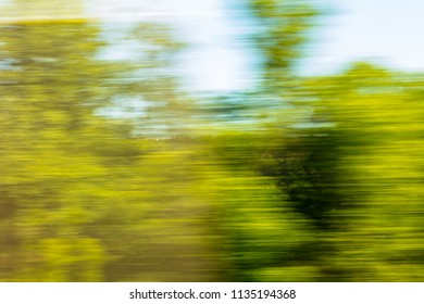 Nature in motion from the train window