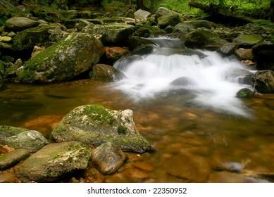 Nature mountain stream