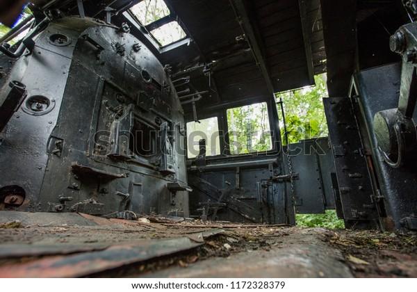 Nature Park Schoneberger Sudgelande, Berlin, Germany - 30th August 2017 - Steam Loco on display at the Sudgelande reserve