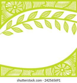 Nature pattern background illustration