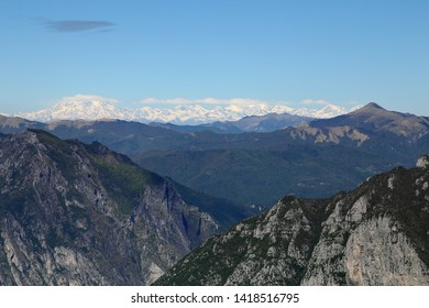 Nature at the peak of Piani D'Erna. Lecco. Italy.
