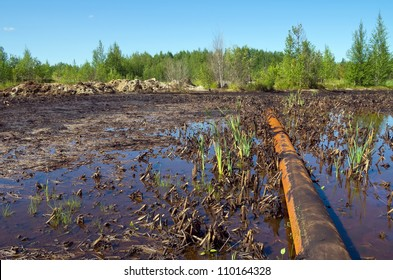 Nature pollution by oil products