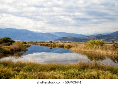 Nature protection Area of Moustos wetland, Peloponnese, Greece