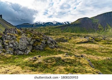 Snæfellsnes nature reserve in western Iceland on the Snæfellsnes peninsula