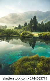 Nature Reserve Zelenci, krajnska gora, Slovenia, Europe. Wonderful morning view of Zelenci nature reserve. Slovenia travel. - Shutterstock ID 1944063775