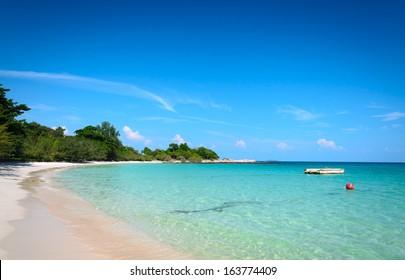 nature scene tropical beach and sea in koh samed island Thailand
